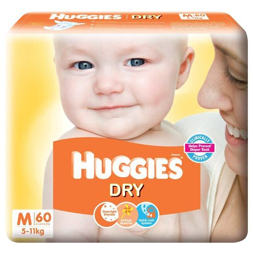 Huggies New Dry Medium -60 Diapers