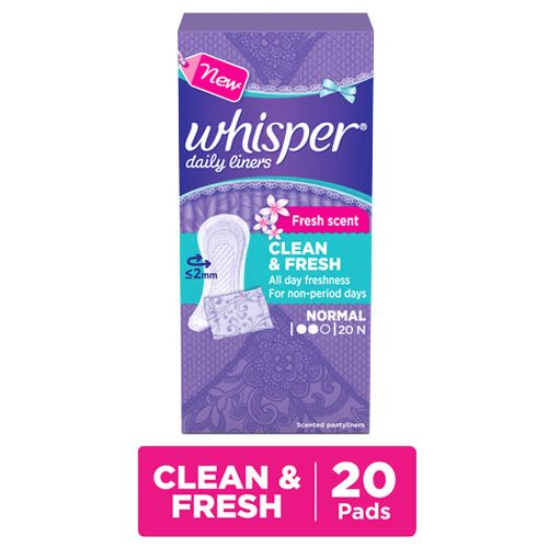 Whisper Daily Liners - Clean & Fresh
