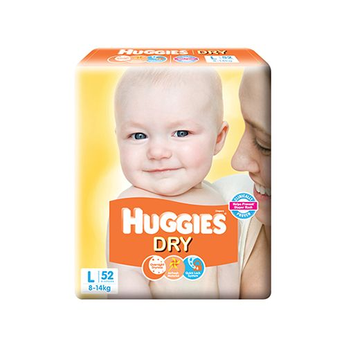 Huggies New Dry Large-52 Diapers