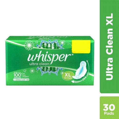 Whisper Sanitary Pads- XL Wings - Clean - Ultra