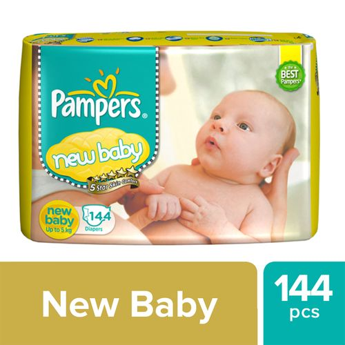 Pampers Active Baby New Born -144 Diapers