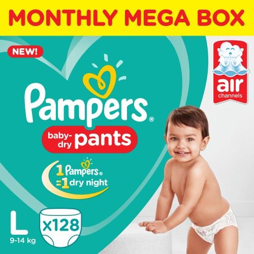 Pampers New Dry  Large Box Packs