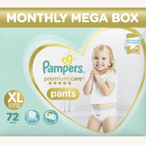 Pampers Premium Care Xtra large Monthly Box Pack-72 Diaper Pants
