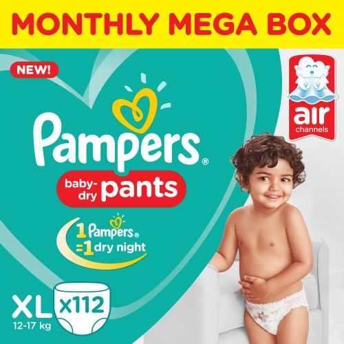 Pampers Xtra Large New Monthly Box-112 Diaper Pants