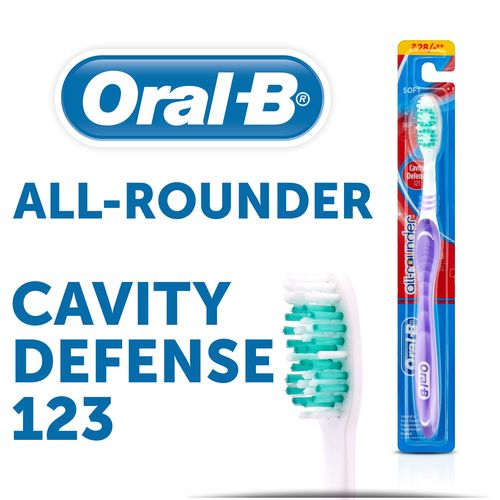 Oral-B Tooth Brush - All Rounder Cavity Defense 123, Soft