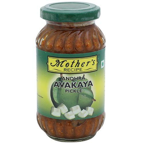 Mother's Recipe Pickle - Andhra Avakaya With Garlic