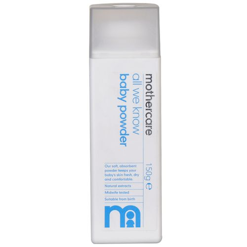 Mothercare All We Know Baby Powder / Talc