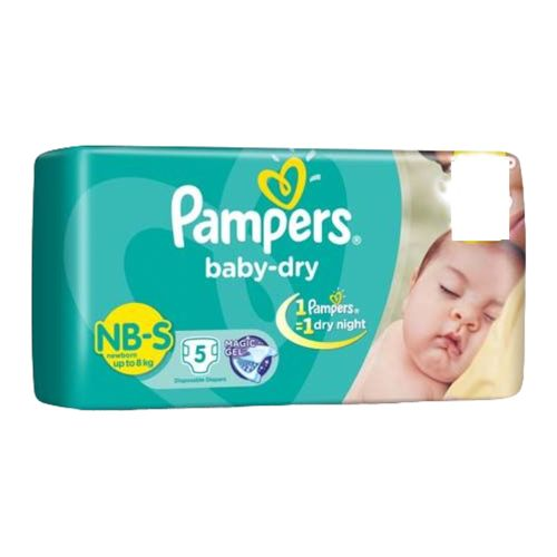 Pampers Baby Dry Small -5 Diapers