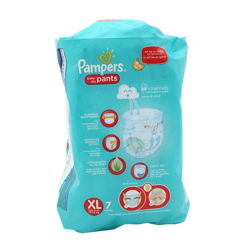 Pampers New Xtra Large -7 Diaper Pants
