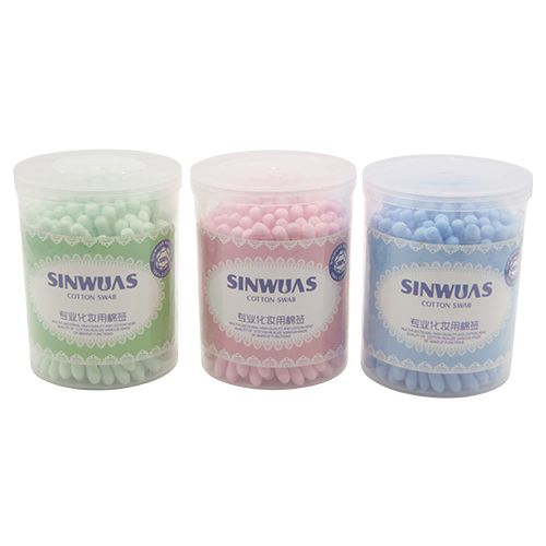 Sinwuas Ear Cum Makeup Bud - Two Sides  Assorted Color