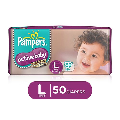Pampers Active Baby Large- 50 Diaper Pants