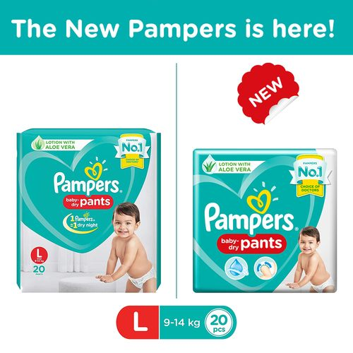 Pampers New Dry large -20 Diapers Pants