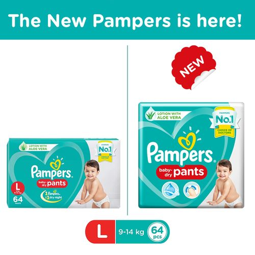 Pampers New Dry Large - 64 Diaper Pants
