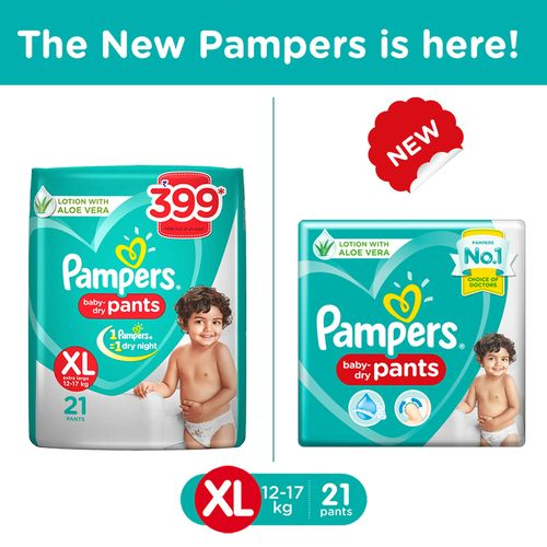 Pampers New X- Large Size Diapers Pants 21 Count