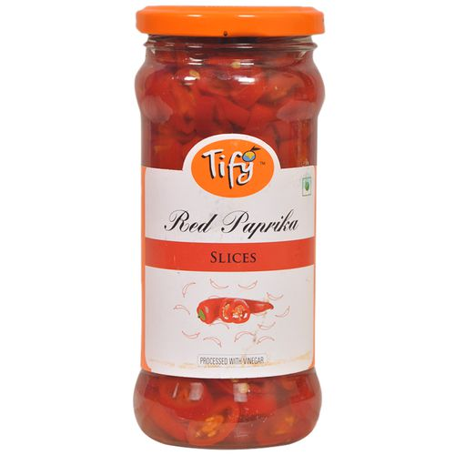 Tify Sliced Red Paprika - Processed With Vinegar