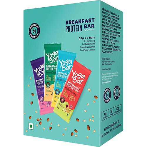 Yoga bar Breakfast Protein Variety Bar - Almond Coconut Apricot & Fig Blueberry Apple Cinnamon