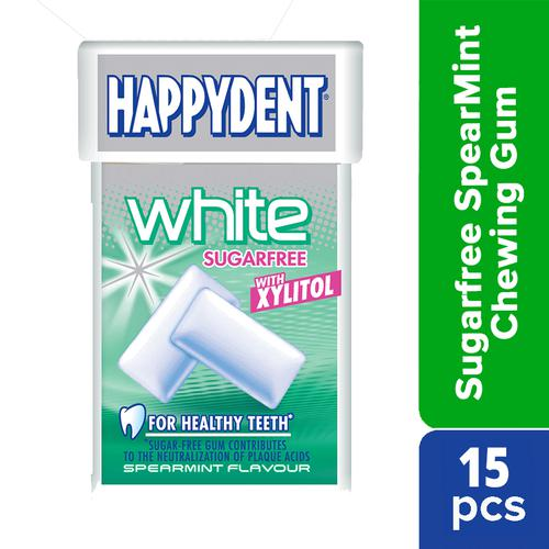Happydent White Xylitol Sugarfree Spearmint Flavour Chwing Gum - Fliptop