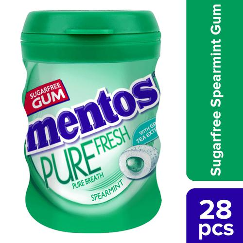 Mentos Pure Fresh Sugarfree Spearmint Flavour Chewing Gum