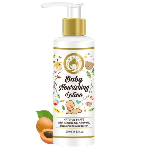 Mom & World Baby Nourishing Lotion - with Almond Oil, Aloe Vera shea & Kokum Butter