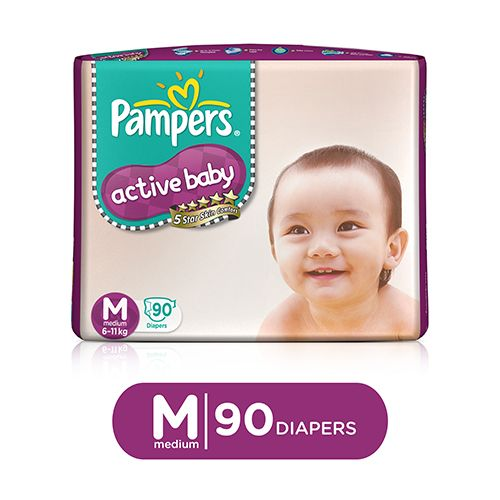 Pampers Active Baby Medium - 90 Diaper Pants