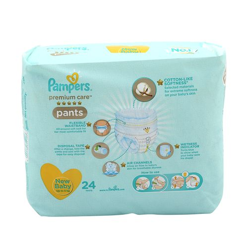 Pampers Premium Care New Baby Xtra Small -24 Diapers