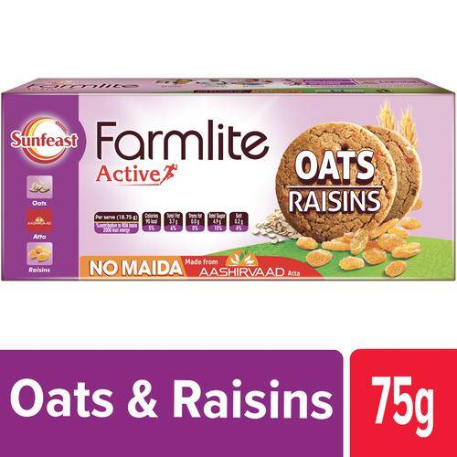 Sunfeast Farmlite - Biscuits - Cookies Oats & Raisins