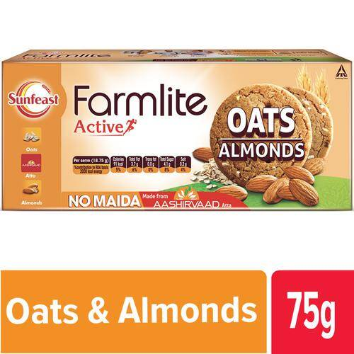 Sunfeast Farmlite - Oats & Almonds Biscuits - Cookies