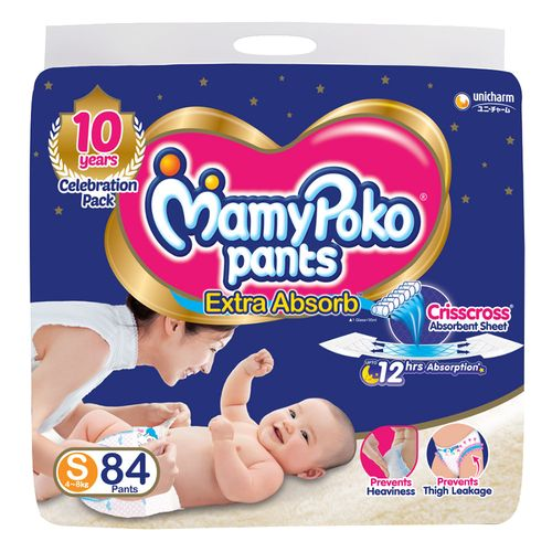 Mamypoko Extra Absorb Small -84 Diapers