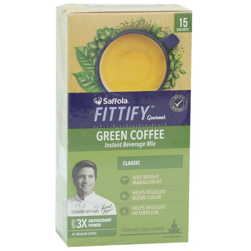 Saffola Fittity Gourmet Green Coffee Instant Beverage Mix- Classic