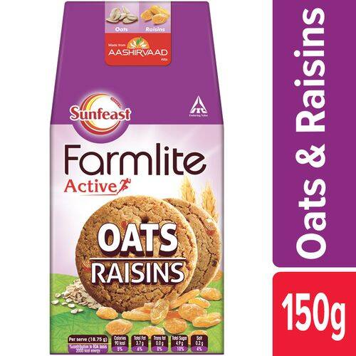 Sunfeast Farmlite Biscuit - Cookies - Oats & Raisins