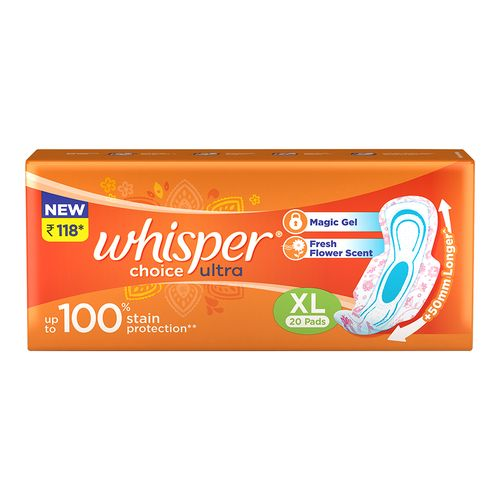 Whisper Sanitary Pads - Choice Ultra Wings Extra Large