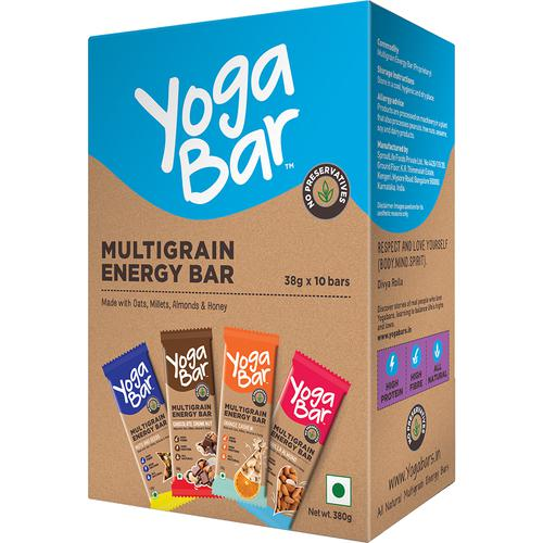 Yoga bar Multigrain Variety Energy Bar - Chocolate Vanilla Almonds Cashew Orange & Nuts & Seeds