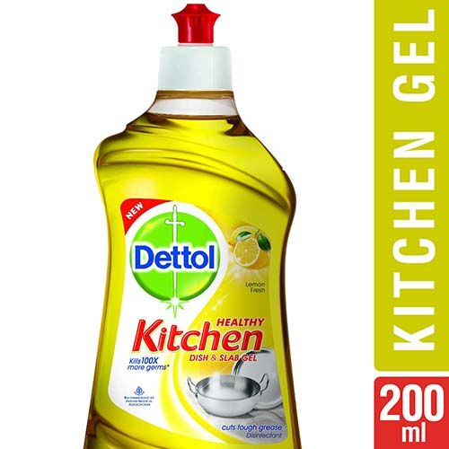 Dettol Dishwash Gel Liquid - Lemon Fresh