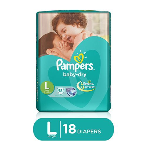 Pampers Baby Dry Large -18 Diapers