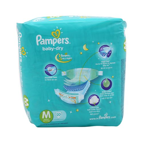 Pampers Baby Dry Medium-20 Diapers
