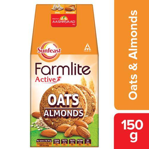 Sunfeast Farmlite Biscuit - Cookies Oats & Almonds