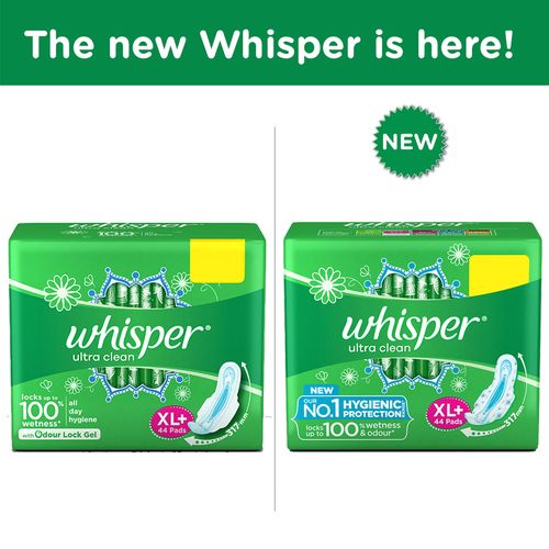 Whisper Sanitary Pads - Extra Large Plus - Clean - Ultra