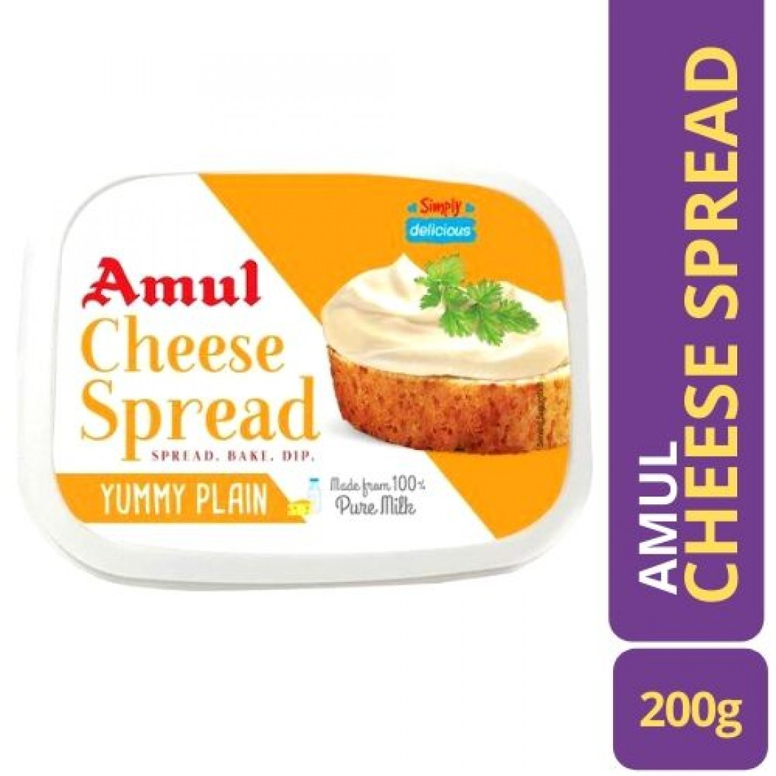 Amul Cheese Spread - Yummy Plain