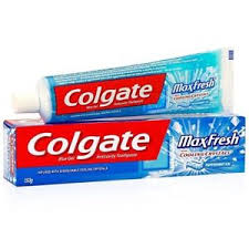 Colgate Toothpaste - MaxFresh, Anti-Cavity, Peppermint Ice