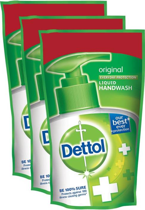 Dettol Hand Wash Liquid Refill - Original Pack Of 3