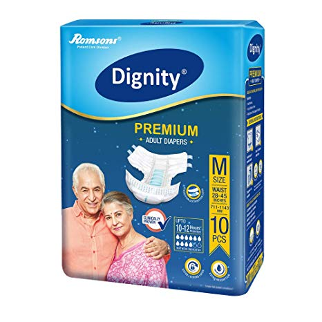 Dignity Premium Adult Diapers Medium 10 Pcs