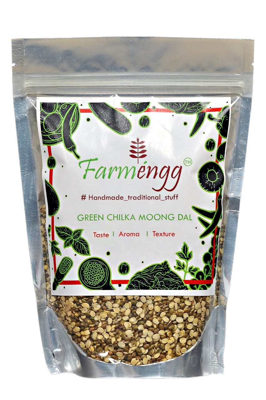 Farmengg Unpolished Green Chilka Moong Dal