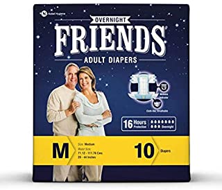 Friends Overnight Adult Diaper M - 10 Pc