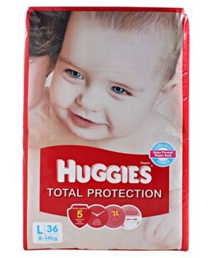 Huggies Total Protection Diapers Large