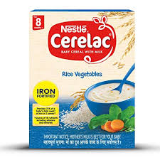Nestle Cerelac Fortified Baby Cereal With Milk, Rice & Vegetables