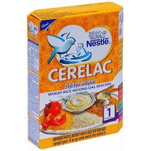 Nestle Cerelac Wheat Rice Moong Dal Khichdi (Stage 1)