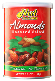 Nut Walker Roasted Salted Almonds Tin