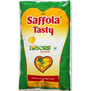 Saffola Tasty Losorb Refined Oil Pouch