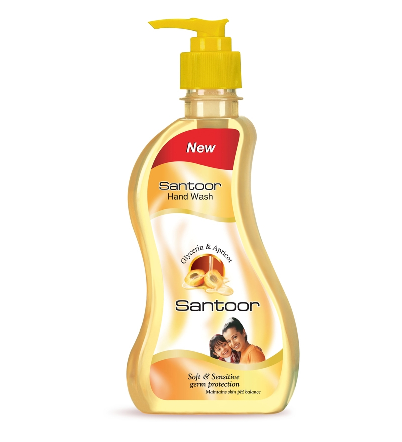 Santoor Hand Wash With Glycerine and Apricot