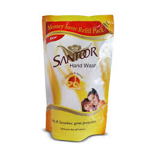 Santoor Hand Wash With Glycerine and Apricot Refill Pack